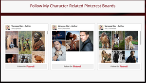 Screenshot of Pinterest Boards from Vanessa Kier's website