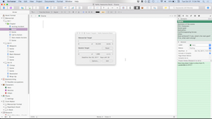 Image of Scrivener with target window open