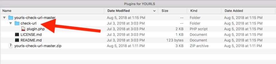 Unzip the plugin folder