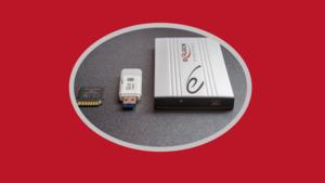 Image of portable backup drives