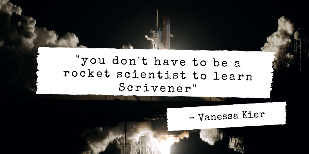Image of a rocket launch with a quote