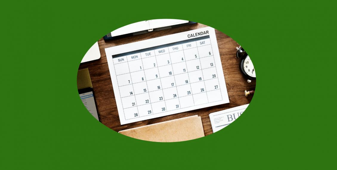Calendar for goal planning