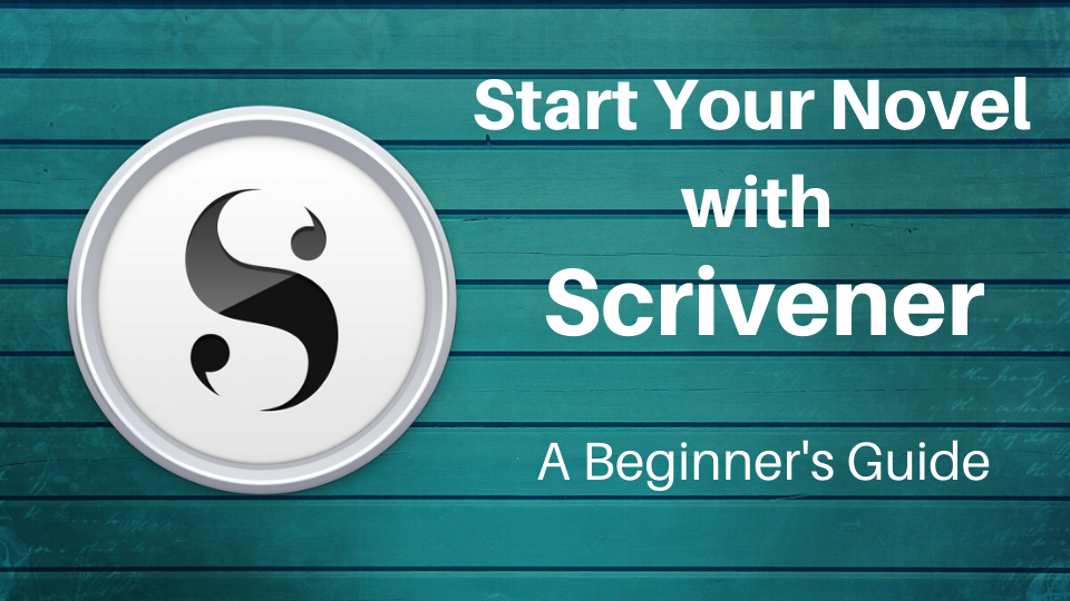 Scrivener logo with the course title